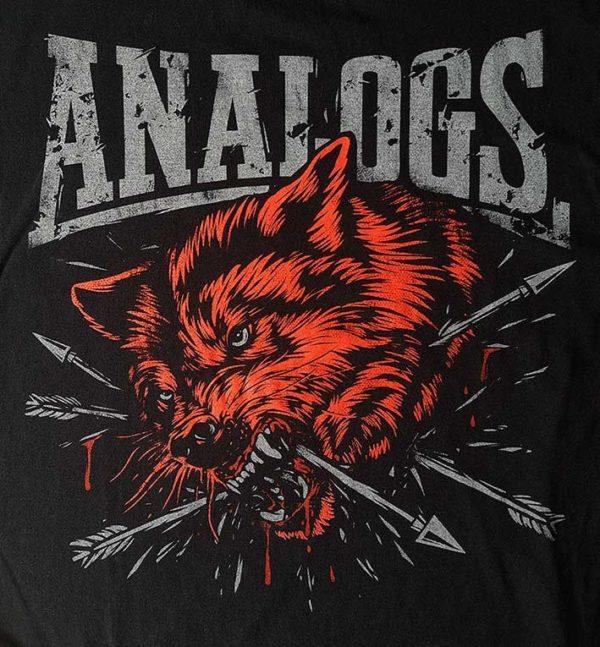 """Damska koszulka zespołu The Analogs z nadrukiem z przodu w dwóch kolorach """"Wilk"""""""