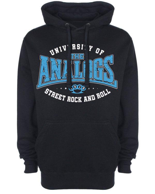 Bluza z kapturem i nadrukiem zespołu The Analogs. Producent Oldschool Records - sklep z oficjalnym merchem The Analogs i innych zespołów z nurtu polski punk, streetpunk, oi.