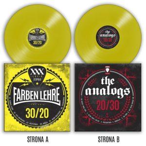 Płyta winylowa LP The Analogs i Farben Lehre FL, split na 20-lecie The Analogs i 30-lecie Farben Lehre.