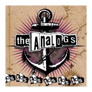 """Płyta cd """"SOS"""" The Analogs wydana w Rosji przez wydawnictwo Street Influence. Na okładce kotwica i logo The Analogs. Klimat muzyczny: punk, street punk, oi!"""